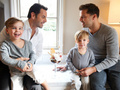 Ricky Martin, Carlos Gonzalez Abella, and their family. :3 - lgbt photo