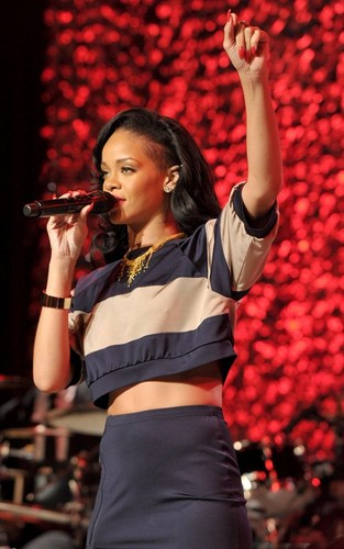 Rihanna performing at an 'Unforgettable Evening' (April 18).