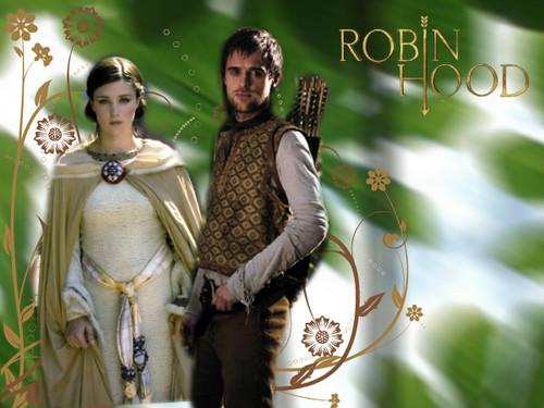Robin capucha, campana and Lady Marian
