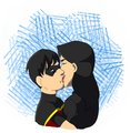 Robin and Zatanna kiss
