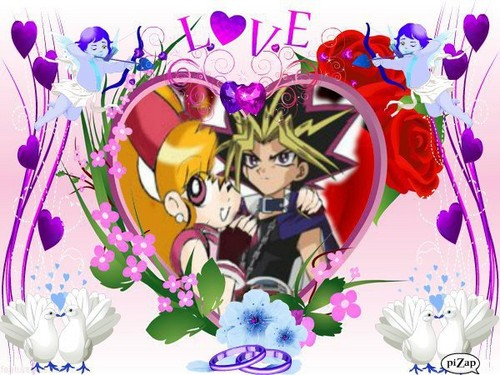 powerpuff girls Z 壁紙 entitled Romatic of Momoko and Yugi