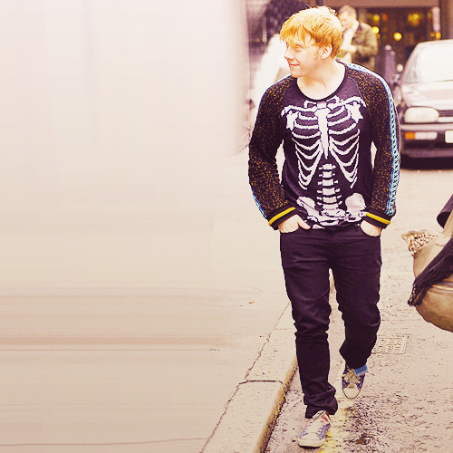 Rupert Grint wallpaper probably with a street and a hip boot titled Rupert