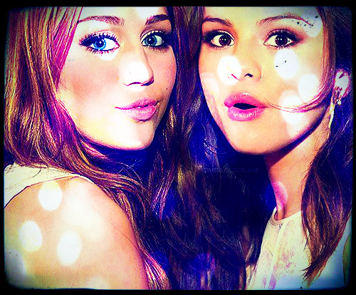 nelly11 wallpaper with a portrait called Selena and Miley