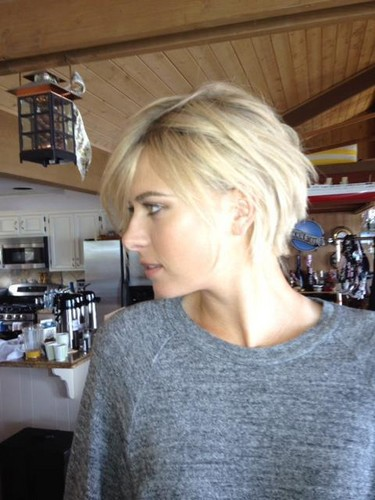 Sharapova 2012 new short hair