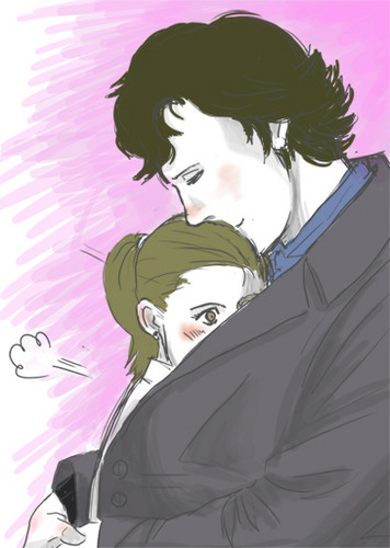 Sherlock and Molly wolpeyper called Sherlock & Molly <3