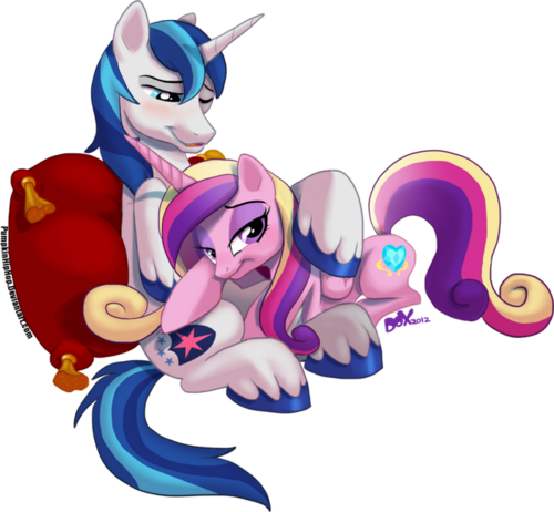 Shining Armor and Cadance - my-little-pony-friendship-is-magic Fan Art