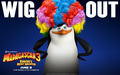 Skipper with a clown wig - penguins-of-madagascar wallpaper