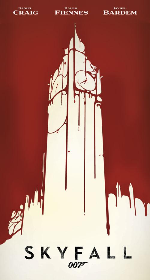 Skyfall minimalist tribute poster
