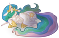 Sleepy Celestia - princess-celestia fan art