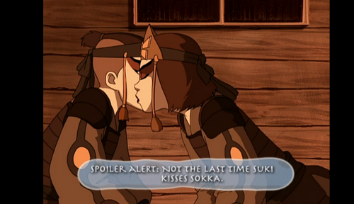 Sokka and Suki First Kiss