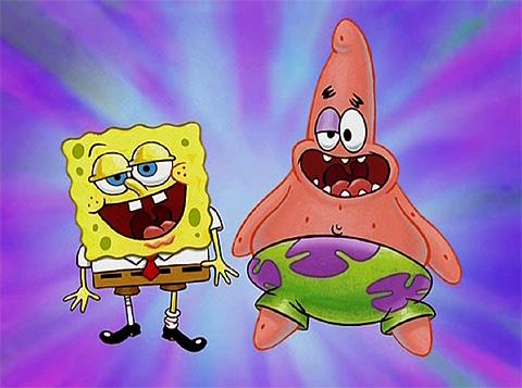 Spongebob Squarepants پیپر وال possibly containing a گھنٹی, بیل entitled Spongebob and Patrick