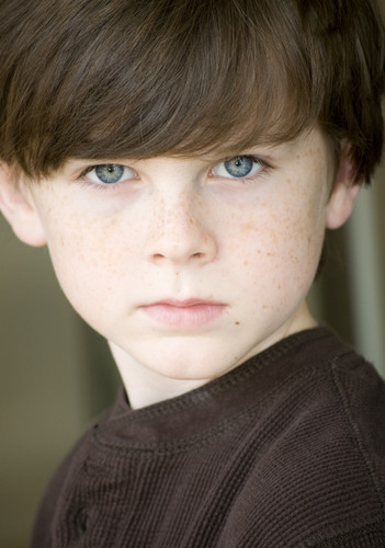 Chandler Riggs wolpeyper possibly with a portrait entitled Squeeeee Chandler c: