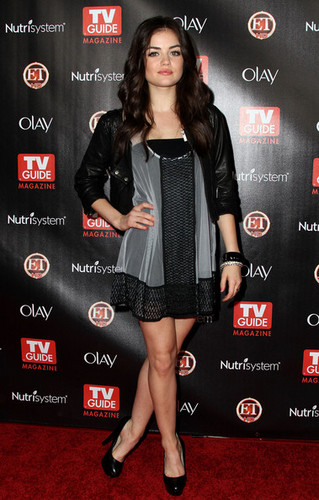 "Lucy Hale 壁纸 possibly containing a hip boot titled TV Guide Magazine's ""2010 Hot List"" Party"