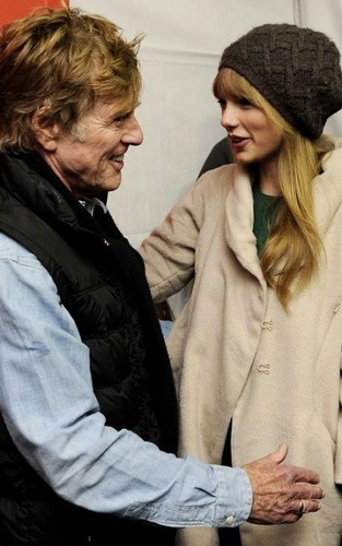 Taylor with Robert Redford!