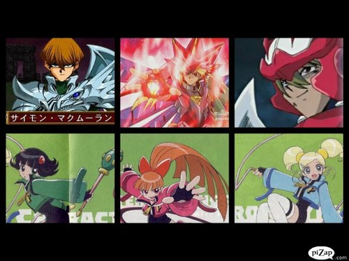 powerpuff girls Z wallpaper containing a stained glass window and anime titled Tector Duelist