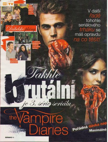 The Vampire Diaries - Magazine Scans - Bravo CZ
