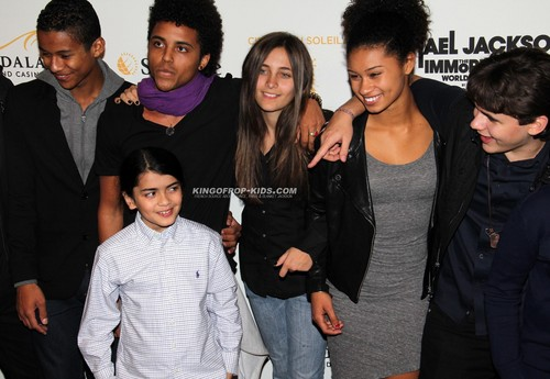 The jacksons kids at MJ Immortal world tour premiere