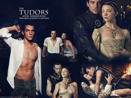 The Tudors پیپر وال possibly containing a bridesmaid, a رات کے کھانے, شام کا کھانا dress, and skin entitled TheTudors!