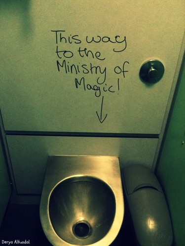 This way to the Ministry of Magic!