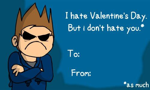 Tom (eddsworld) wallpaper probably containing anime titled Tom Valentine's Day Card