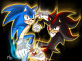 Twin Attack - shadow-the-hedgehog fan art