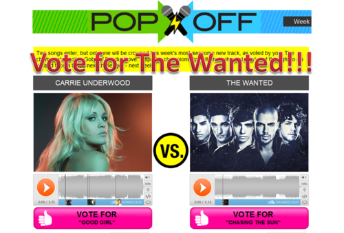 Vote for The Wanted!!!