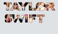 Taylor Swift name collage
