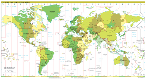 World time zones.