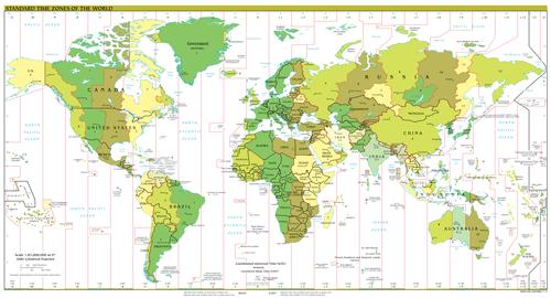 World time zones.