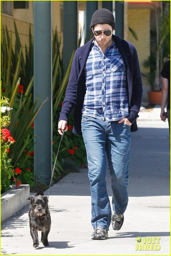 Zachary Quinto wallpaper called Zachary Quinto: Doggie Errands!