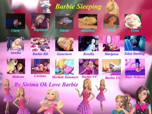 Barbie-Filme Hintergrund entitled Barbie sleeping