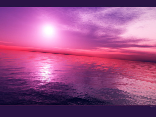 beautiful purple beach