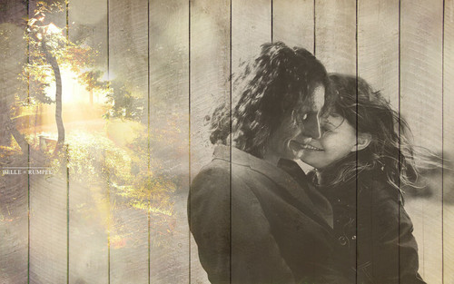 belle + rumpel - once-upon-a-time Wallpaper
