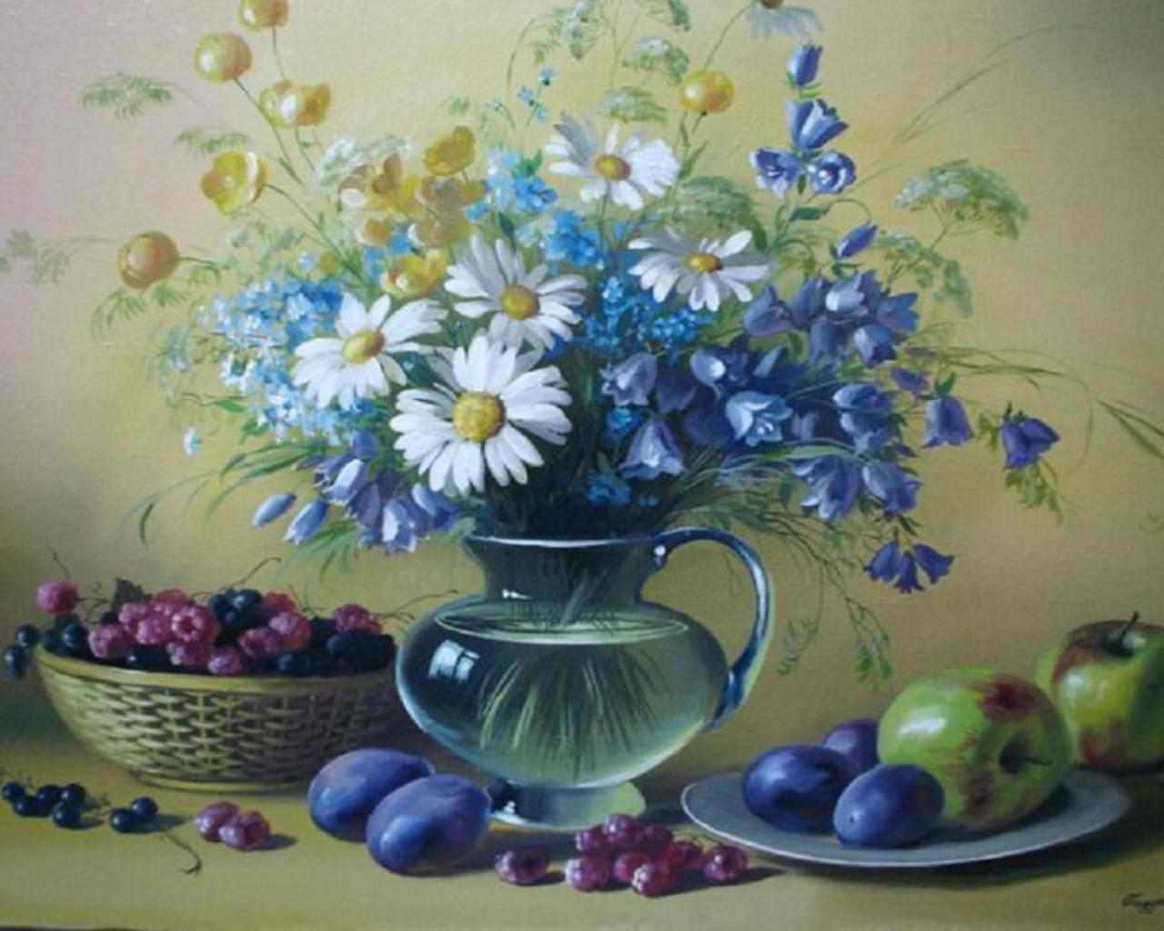 blue 花