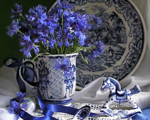 blue fiori