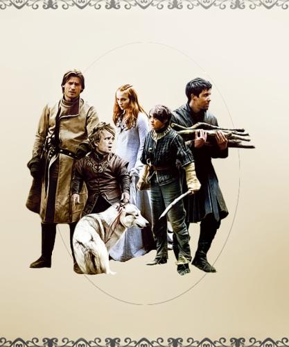 Jaime, Tyrion, Sansa, Arya & Gendry