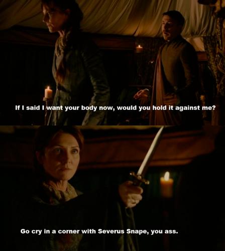 With Severus Snape