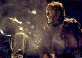 Horror films achtergrond called jason vs Freddy