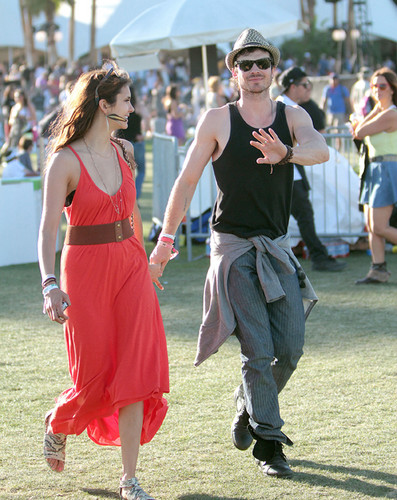 nian at coachella - ian-somerhalder-and-nina-dobrev Fan Art