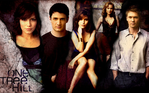 One Tree Hill Wallpaper Probably Containing A Portrait Titled Cast