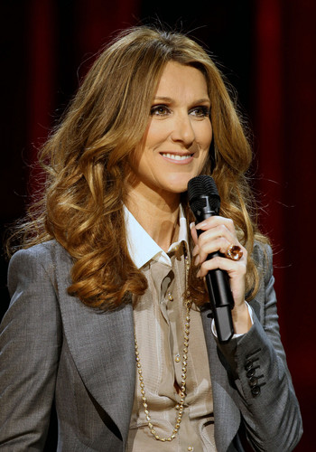 press conference after her montrer at the Colosseum
