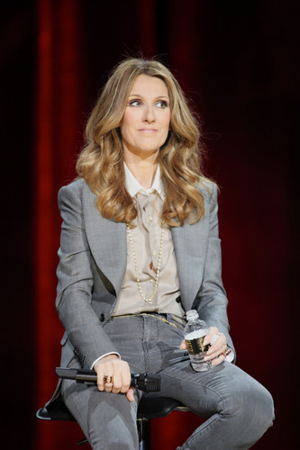 Celine Dion wallpaper possibly with a well dressed person entitled press conference after her show at the Colosseum