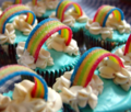 rainbow - cupcakes photo