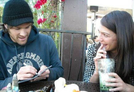 Jared Padalecki & Genevieve Cortese wallpaper probably containing alcohol, a lunch, and a tamale entitled ~Jared&Gen~