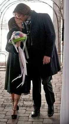 Jared Padalecki & Genevieve Cortese 壁紙 containing a business suit entitled ~Jared&Gen~
