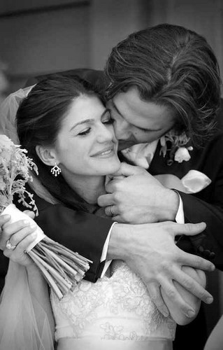 Jared Padalecki & Genevieve Cortese Hintergrund possibly with a bouquet entitled ~Jared&Gen~