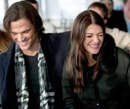 Jared Padalecki & Genevieve Cortese वॉलपेपर probably containing a well dressed person, an overgarment, and an outerwear titled ~Jared&Gen~