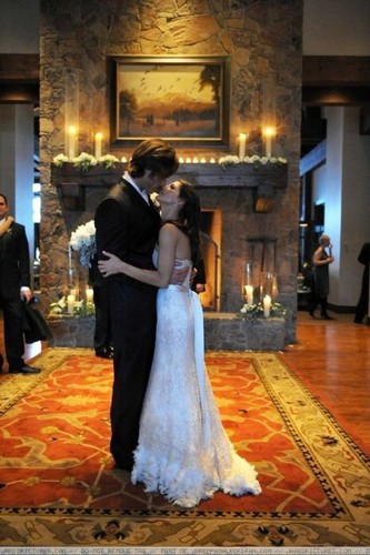 Jared Padalecki & Genevieve Cortese wallpaper possibly with a bridesmaid, a kirtle, and a gown titled ~Jared&Gen~