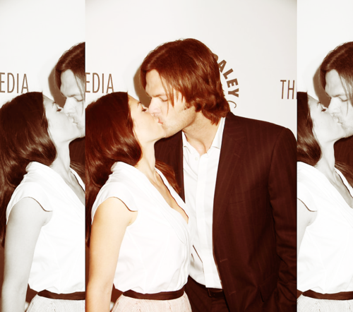 Jared Padalecki & Genevieve Cortese wallpaper probably containing a business suit entitled ~Jared&Gen~
