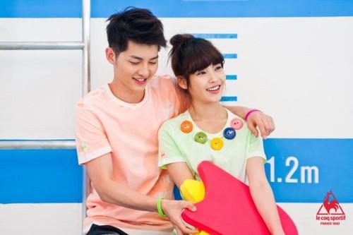 Joong Ki & आई यू – Le Coq Sportif